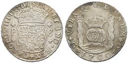 Carlos III., 1760-1771, 8 Reales, 1760 G, KM 27.1, S-ss - Guatemala