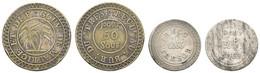 25, 50 Sous, O.J. (1822), Münzstätte Kalkutta, Lec. 17, 19, Ss - Mauritius