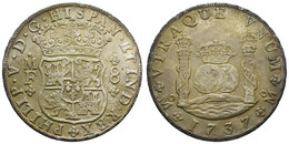 Felipe V., 1700-1746, 8 Reales, 1737, M, Schöne Patina, KM 103, Vz+ - Mexico