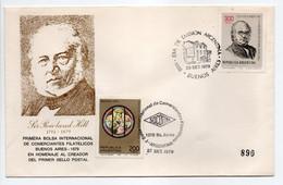 - FDC BUENOS AIRES (Argentine) 27.9.1979 - Bel Affranchissement Philatélique Sir ROWLAND HILL - - FDC