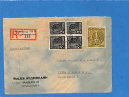 Allemagne Bizone 1948 Lettre De Hamburg (G1893) - Zona Anglo-Americana