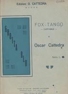 Spartito OSCAR CATTEDRA - GROTTA BLU - Fox Tango - Napoli - Maestro O. Cattedra - Musica Popolare