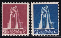 Libia Inaugurazione 1937 Serie Completa Sass.140/141 MNH** Cv 15 - Libia