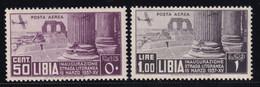Libia Posta Aerea Inaugurazione 1937 Serie Completa Sass. A30/A31 MNH** Cv 20 - Libia