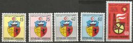 Tunisie 79-80 - 1969-70 N°666 à 670 - Tunisia