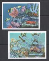 TT913 GRENADA FAUNA FISH & MARINE LIFE LOBSTERS 2BL MNH - Vita Acquatica