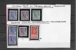 Timbres  Neufs** De Libération  MONTREUIL BELLAY  VAUDELENAY / PUY NOTRE DAME - Liberation