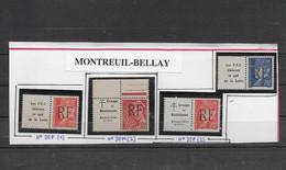 Timbres  Neufs** De Libération  MONTREUIL BELLAY  Dont 1 Trace De Rouille NC - Liberation