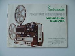 NOTICE UTILISATION PROJECTEURS SONORE SUPER 8 - Film Projectors