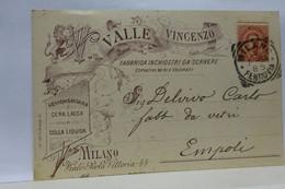 MILANO  -- FABBRICA  PENNE STILOGRAFICHE  -PENNINI - INCHIOSTRI --  VALLE VINCENZO - Industry