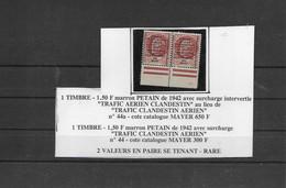 Timbres  Neufs** De Libération   MONTREUIL BELLAY Surcharge Trafic Aérien Clandestin - Liberation