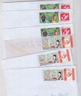 Lot 6 Lettres Timbres Tintin - Non Classificati