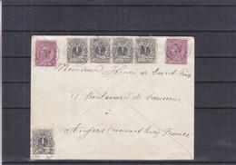 Belgique - Lettre De 1893 - Oblit Lodelinsart - Exp Vers Angers - 1893-1900 Barbas Cortas