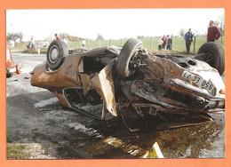 PHOTO ORIGINALE 1989 LA SOUTERRAINE - ACCIDENT DE VOITURE OPEL MANTA ASCONA AUTRES (?) - CRASH CAR - Cars
