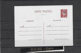Entier Postal De Libération TOURS GARE - Liberation