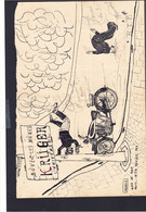 """Belgique - Dessin Original """"Buvez Les Bières Kruger"""" (Ostende + Moral De Conduite). Dessin Signé. - Documents Historiques"""