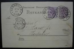 Gebweiler 1889 Alsace Guebwiller Carte Pour Pontarlier, Commande D'une Bonbonne D'absinthe à Pernot Par L'adjoint Haller - Elzas-Lotharingen