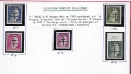 Libération Timbres Neufs** Occupation Française En Allemagne - Liberation