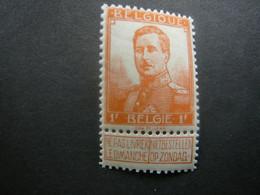 116 Xx MNH 1F Oranje - Orange Pellens - 1912 Pellens