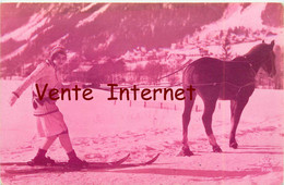 ☺♦♦ SKI à CHEVAL - FEMME SKIEUSE - Winter Sports
