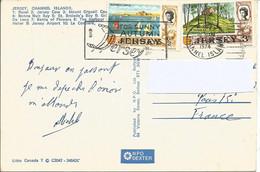 C.P JERSEY Pour La France De 1974. T.P Y&T N°5 Et 8 - Jersey