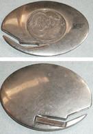 Rare Coupe-papier Ouvre-lettres Publicitaire En Métal Argenté, Avec Médaille Pub CC C.C., Objet De Bureau - Brieföffner