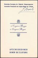 """Belgique - Menu Dépliant """"Association Permanente Des Congrès Belge De La Route"""" (5e Congrès, Bruges) - Menus"""