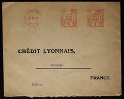 Grande Bretagne - EMA Du Crédit Lyonnais De Londres Pour La France 1928 - Affrancature Meccaniche Rosse (EMA)
