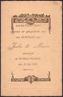 Belgique - Menu Dépliant Illustré (Mariage, St-Maria-Horebeke 1937) - Menus