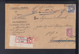 Dt. Reich Portopflichtige Dienstsache Neukirchen Ziegenhain 1887 - Brieven En Documenten