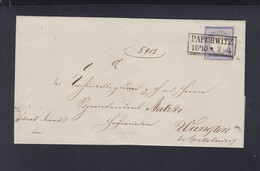 Dt. Reich Polen Poland Couvert 1872 Parchwitz Prochowice - Briefe U. Dokumente