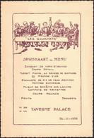 """Belgique - Menu Illustré """"Les Gourmets : Taverne Palace"""" (Bruxelles 1938) - Menus"""