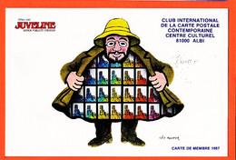 VaK126 ⭐ ALBI Tarn Dessin Léo KOUPER  Carte De Membre 1987 Club International Carte Postale Contemporaine - Albi