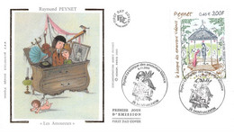 """FRANCE.FDC.AM11967.04/11/2000.Cachet Saint-Valentin.Raymond Peynet.""""Les Amoureux"""" - 2000-2009"""