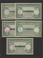 Mittel- Und Südamerika: 1950's American-Spanish Postal Union Reply Coupons (IRC's), 10 Different Fro - America (Other)
