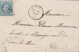 LSC  Yvert 29 HURIEL Allier 24/10/1869 GC 1817 à Bourges Cher - 1849-1876: Classic Period