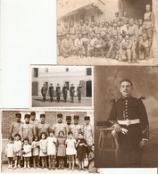 Gendarme Soubiran, Soldat Au 14e De Saint-Gaudens Puis Paris, Médaille Militaire à Melun, 3 Carte-photo + 2 Clichés - Regiments
