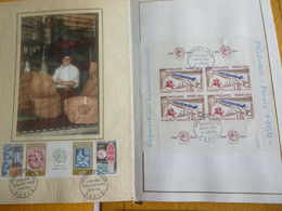 """FR.1964 1417a & 1422  : """"  PHILATELEC  """" Luxe Card FDC - 1960-1969"""