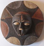 Afrique Masque Mural Soleil Cameroun (4) - Afrikanische Kunst