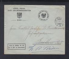 Dt. Reich Couvert 1910 Bade U. Brunnendirektion Ems - Storia Postale
