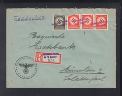 Dt. Reich R-Brief Augsburg 1944 Nach München - Officials