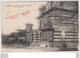 CHANTILLY DOMAINE DU BOIS SAINT DENIS LA CHAUMIERE PUB PUBLICITE APERITIF HALATTE TBE - Chantilly