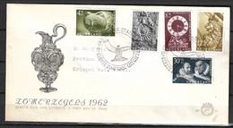 Groene Vlek In 4 + 4 Ct 766 Op FDC 1962 Zomerzegels Museumstukken  NVPH 766 / 770 - Abarten Und Kuriositäten