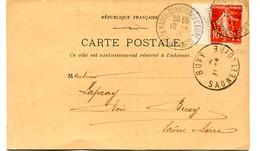 LE HAVRE Quartier De Lo'Eure (TàD 1912)- CP Des Bois Du Nord  Ch. Humbert Avec Timbre Perforé Et TàD D'arrivée à Buxy. - 1877-1920: Periodo Semi Moderno