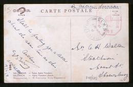 1918 Postcard British Levant Field Post Office / SX 13, Censor № 111 In Salonica, Thessaloniki, Salonika - Covers & Documents