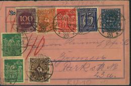 1923, 27.4., 225 Pfg. Rohrpostumschlag, Mit ZuF Von Berlin O26 Als Fernbrief Nach Rostock, Bedarfserhaltung - Covers