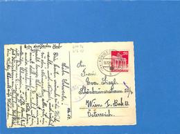 Allemagne Bizone 1950 Postkarte De Königsbronn à L'Autriche, Avec Censure (G1983) - Zona Anglo-Americana