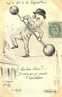 CARICATURE POLITIQUE Illustrateur MOLYNK (dessin Original)  LE CRAYON  N°73 1906 - Satirical