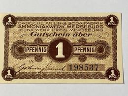 Allemagne Notgeld Merseburg 1 Pfennig - Collezioni
