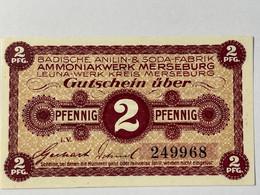 Allemagne Notgeld Merseburg 2 Pfennig - Collezioni